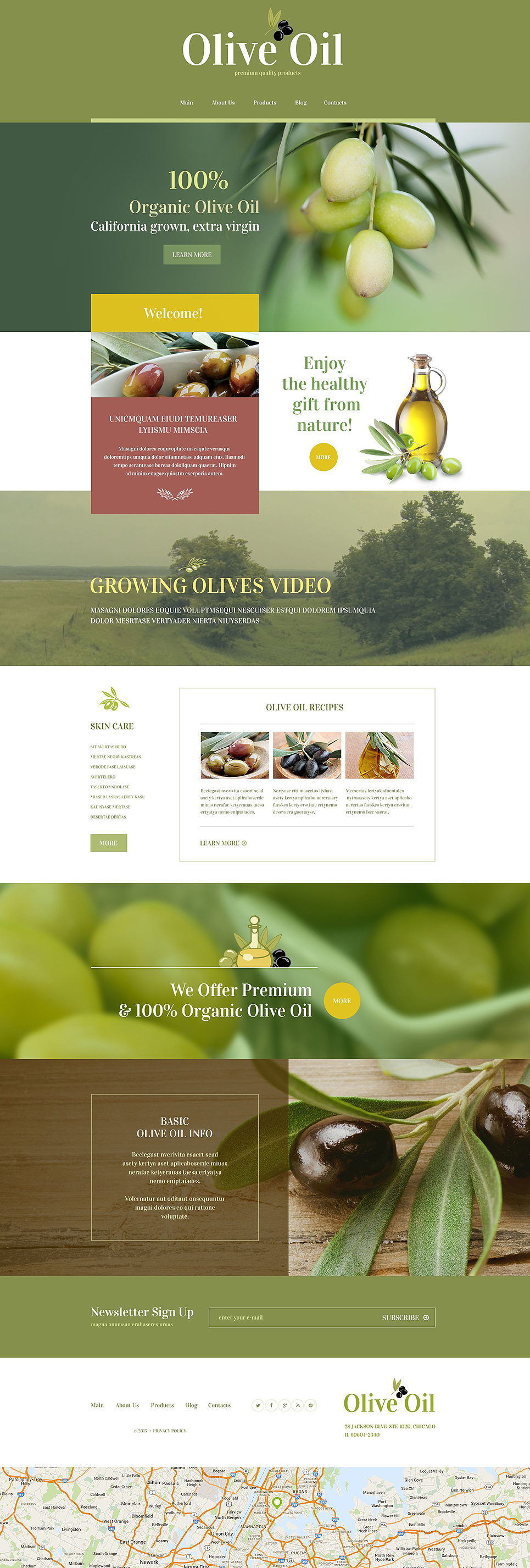 Food Store WordPress Template